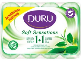 Мыло Duru 1+1 Soft Sensations Зеленый чай 4 x 90 г.