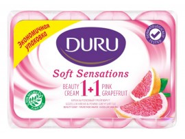 Мыло Duru 1+1 Soft Sensations Грейпфрут 4 x 90 г.