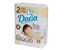 Подгузники Dada Little One 2 Mini , 3-6 кг, 74 шт.