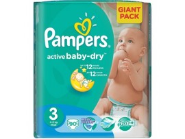 Подгузники Pampers Active Baby Midi 3 (4-9 кг), 90шт