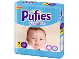 Подгузники Pufies Sensitive 3 (4-9 кг) 100 шт.