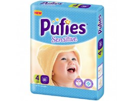 Подгузники Pufies Sensitive 4 (7-14 кг) 88 шт.