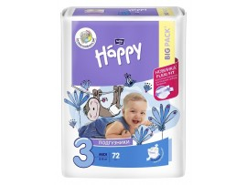 Подгузники Bella Baby Happy 3 (5-9 кг.) 72 шт.