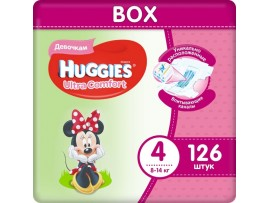 Подгузники Huggies Ultra Comfort Girl 4 (8-14кг), 126 шт
