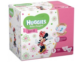 Подгузники Huggies Ultra Comfort Girl 5 (12-22кг), 105 шт.