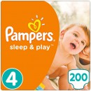Подгузники Pampers Sleep&Play 4 (8-14 кг), 50x4=200 шт.