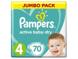 Подгузники Pampers Active Baby-Dry 4 (9-14 кг), 70 шт.