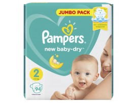 Подгузники Pampers New Baby-Dry 2 (4-8 кг), 94 шт.