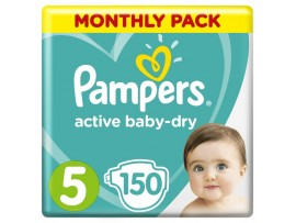 Подгузники Pampers Active Baby-Dry 5 (11-16 кг), 150 шт.