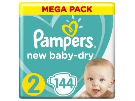 Подгузники Pampers New Baby-Dry 2 (4-8 кг), 144 шт.
