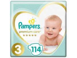Подгузники Pampers Premium Care 3 (6-10 кг) 114 шт. (Россия)