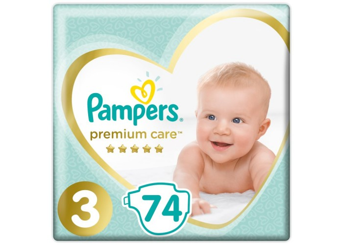 Подгузники Pampers Premium Care 3 (6-10 кг) 74 шт.