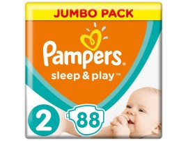 Подгузники Pampers Sleep&Play 2 Mini (3-6 кг), 88шт