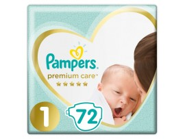 Подгузники Pampers Premium Care 1 (2-5 кг) 72 шт.