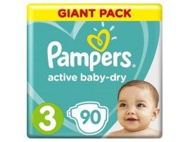 Подгузники Pampers Active Baby-Dry 3 (6-10 кг), 90 шт.