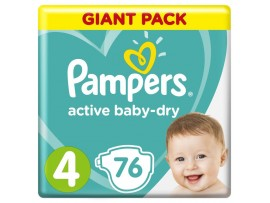 Подгузники Pampers Active Baby-Dry 4 (9-14 кг), 76 шт.
