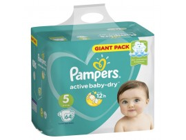Подгузники Pampers Active Baby-Dry 5 (11-16 кг), 64 шт.