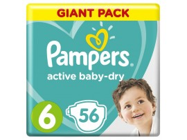 Подгузники Pampers Active Baby 6 (13-18 кг), 56 шт.