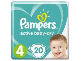Подгузники Pampers Active Baby-Dry 4 (9-14 кг), 20 шт.