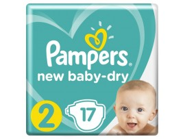 Подгузники Pampers New Baby-Dry 2 (4-8 кг) 17 шт.