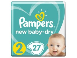 Подгузники Pampers New Baby-Dry 2 (4-8 кг), 27 шт.
