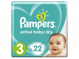 Подгузники Pampers Active Baby-Dry 3 (6-10 кг), 22 шт.
