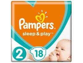 Подгузники Pampers Sleep&Play 2 (4-8 кг) 18 шт.
