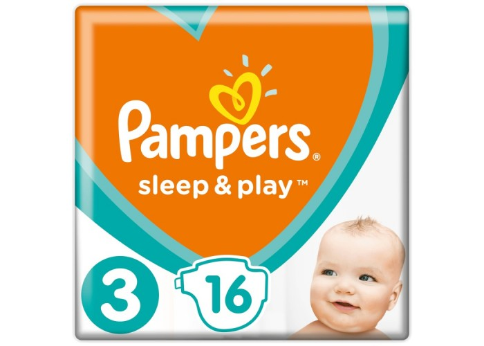 Подгузники Pampers Sleep&Play 3 Midi (4-9 кг), 16шт