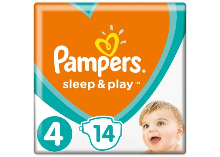 Подгузники Pampers Sleep&Play 4 Maxi (8-14 кг), 14шт