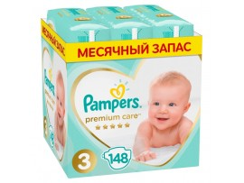 Подгузники Pampers Premium Care 3 (6-10 кг) 148 шт.