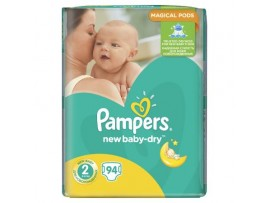 Подгузники Pampers New Baby-Dry 2 (3-6 кг), 94шт