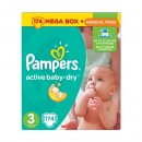Подгузники Pampers Active Baby Midi 3 (5-9 кг), 174шт