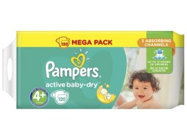 Подгузники Pampers Active Baby Maxi Plus 4+ (9-16 кг), 120шт