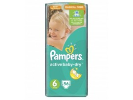 Подгузники Pampers Active Baby 6 Magical Pods(15+ кг), 56шт