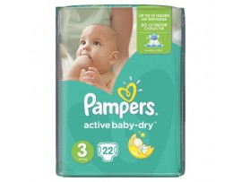 Подгузники Pampers Active Baby Midi 3 (4-9 кг), 22шт