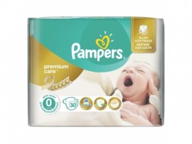 Подгузники Pampers Premium Care Newborn 0, 30шт