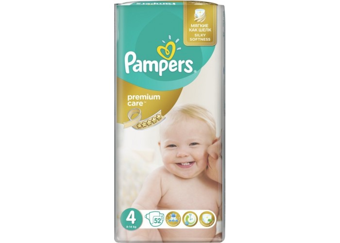 Подгузники Pampers Premium Care 4 Maxi (8-14 кг), 52шт