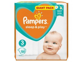 Подгузники Pampers Sleep&Play 3 Midi (6-10 кг), 100 шт.