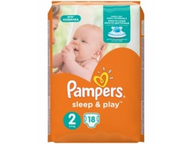 Подгузники Pampers Sleep&Play 2 Mini (3-6 кг), 18шт