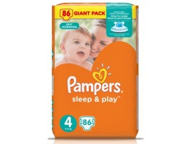 Подгузники Pampers Sleep&Play 4 Maxi (8-14 кг), 86шт