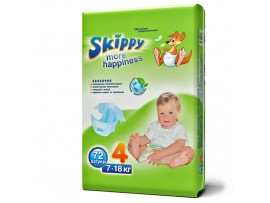 Подгузники Skippy More Happiness 4 (7-18 кг), 72 шт.