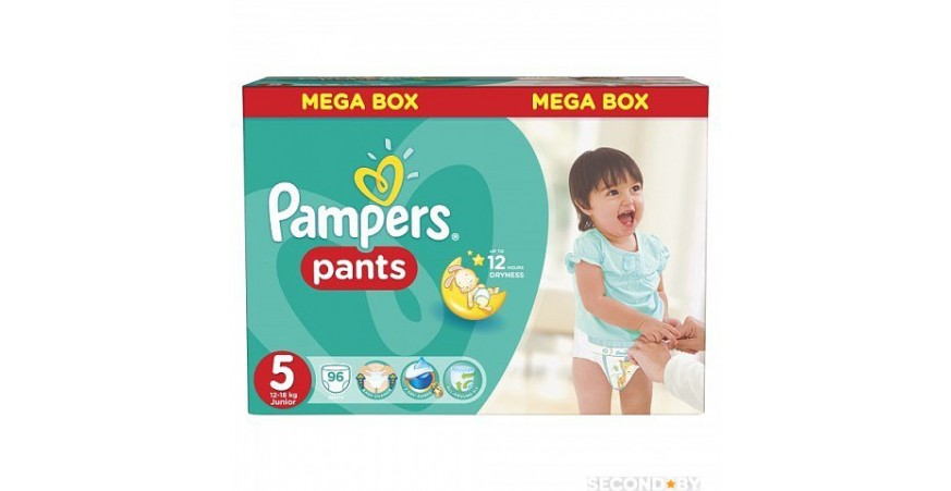 Трусики Pampers Pants 5 (12-18 кг), 96шт