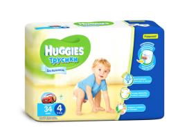 Трусики Huggies 4 Boy (9-14 кг), 34шт
