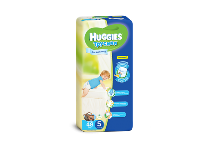 Трусики Huggies 5 Boy (13-17 кг), 48шт