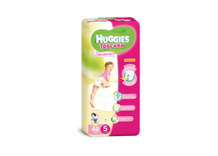 Трусики Huggies 5 Girl (13-17 кг), 48шт