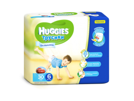 Трусики Huggies 6 Boy (16-22 кг), 30шт