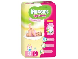 Трусики Huggies 3 Girl (7-11 кг), 58шт