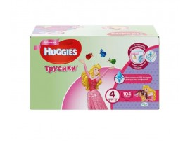 Трусики Huggies 4 Girl (9-14кг), 104 шт.