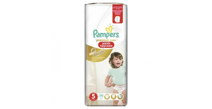 Трусики Pampers Premium Care 5 (12-18 кг), 40шт