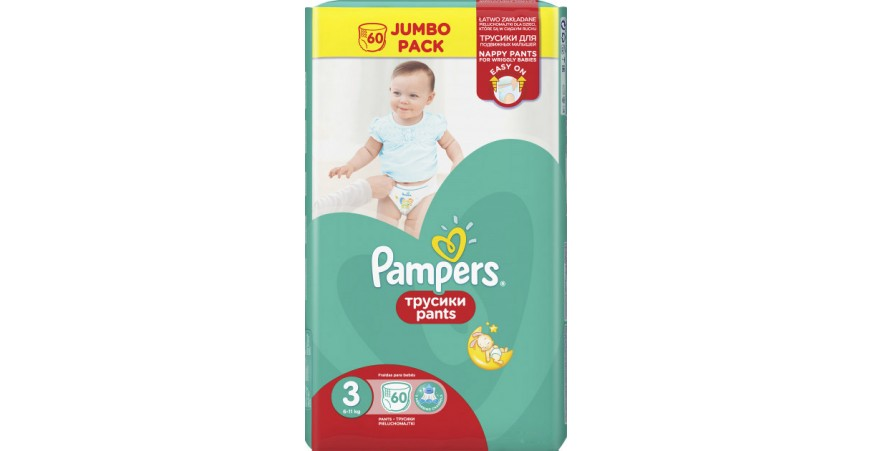 Трусики Pampers Pants 3 (6-11 кг), 60шт